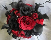 Gothic Bride/ Bridesmaid /wedding flowers CUSTOM MADE to your designs Photos are examples!  Message me to discuss your ideas