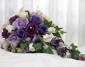 Bride's bouquet /wedding flowers custom made to order.Photos are examples! They're made to your specifications! Message me to discuss ideas.