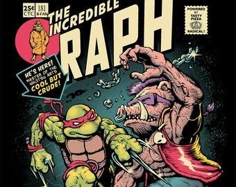 TMNT / Ninja Turtles Tee / Comics / Nostalgia / Crossover / Cartoon / Eighties / Raphael / Bebop / Rocksteady / Mashup / 1980s / Turtles