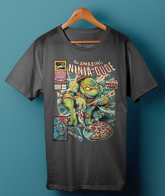 TMNT  Ninja Turtles Tee  Comics  Nostalgia  Crossover  Cartoon  Eighties  Donatello  Baxter Stockman  Mashup  1980s