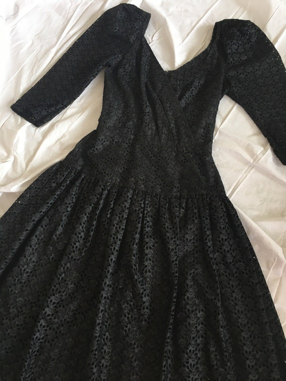 1980s does 1950s Black Lace Dress