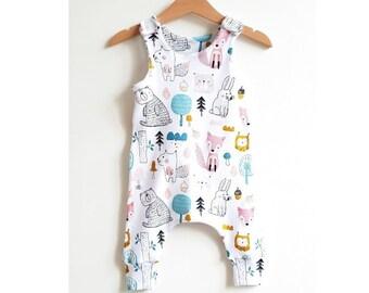 725c430c333 Giraffes on gray baby romper baby boy romper baby girl