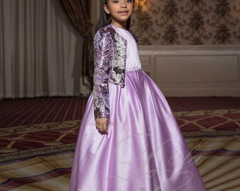 Lilac Snake Jacket Dress