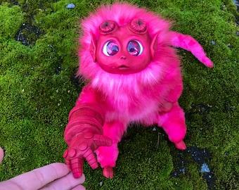 Hellboy baby doll, hellboy Art Doll, Fantasy Handmade Doll, collectible toys