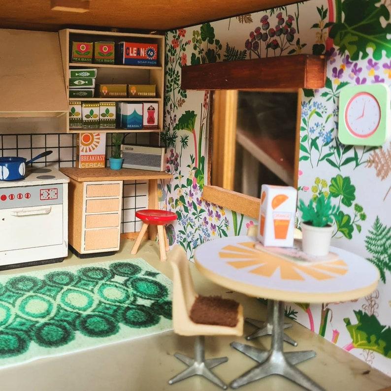 Vintage retro 70s style Lundby Dolls house miniature rug