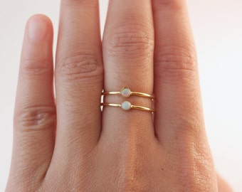 03a27ed0e Gold Opal Rings | Opal Stone | Gold Rings | Stacking Rings | Fire Opal Stone  | Opal Jewelry | Opal Birthstone Ring | Rings With Stones