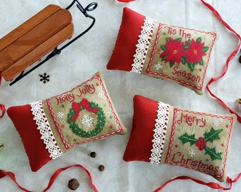 Christmas Triplets Pattern Bundle! All 3 Downloadable PDF Patterns in 1! Merry Christmas, Holly Jolly, and 'Tis the Season!