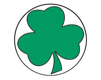 "Shamrock 1.25"" pinback button"