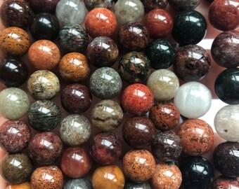 14MM Multi Color Lace Phantom Quartz  Gemstone Grade A Round Loose Beads 7.5 inch Half Strand 80009677-A177