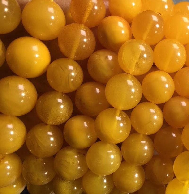 12mm perles en ambre ambre en jaune ancien non traité naturel, ambre pierres précieuses, perles en vrac, 7 pouces 77c3a2