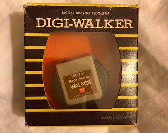 digital pedometer with manual and original packaging- deadstock