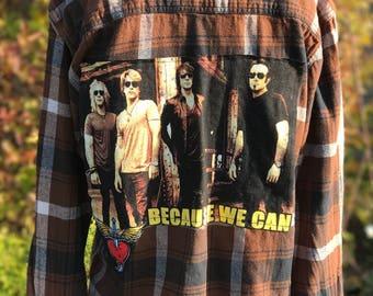 Bon Jovi Flannel SZ XL (18) Boys