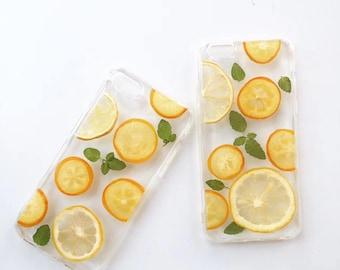Real Lemon iPhone case, Fruit phone case, iPhone 11, Pro, Pro Max case iPhone X, Xs, XR, iPhone Xs Max case, iPhone 6/7/8 case, iPhone case