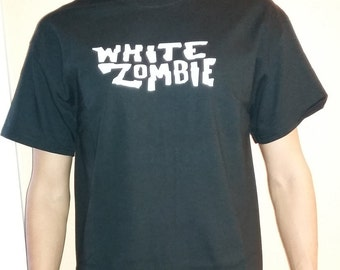 WHITE ZOMBIE T-shirt 100 % Cotton and 1 stisker Free