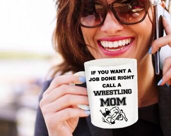 Mothers Day Gift Wrestler Parent Wrestling Mother Proud Wrestling Mom Love Wrestling Wrestle Mug Athletic Supporter Gift for Best Mother
