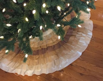 Christmas Tree Skirt, Tree Skirt, Xmas Tree, Holiday Tree, Ruffle Tree Skirt, Xmas Tree Skirt, Holiday Tree Skirt, Ruffle Decor