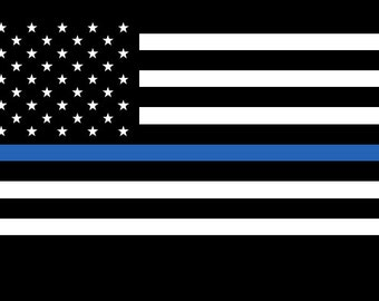 Various Sizes Free Ship Thin Blue Line Texas  Reflective Decal