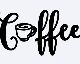 Coffee decal, Coffee sticker, Coffee