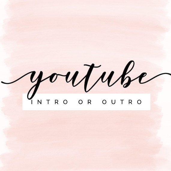 Youtube Intro or Outro! - Logo, Design, Branding, Beauty Vlogger, Daily  Vlogger, Lifestyle Vlogger, Youtube Banner, Custom Logo, Graphic Des