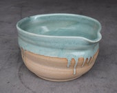 Frosted Peppermint Series: Handmade Ceramic Bowl, Batter Bowl, Serving Bowl, Ergonomic Cereal Bowl, Snack Bowl