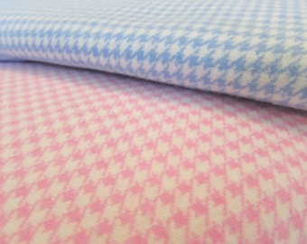Houndstooth Flannel/Yardage Bundle/Bundle of Two/Two Yards Total/Cotton Flannel