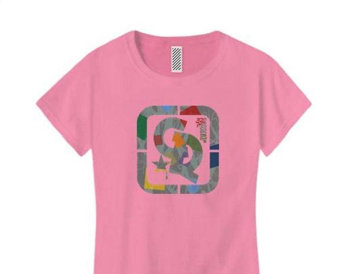 Womens 'Confetti' graffiti style Concrete Republic logo graphic (sizes Sm-4X)