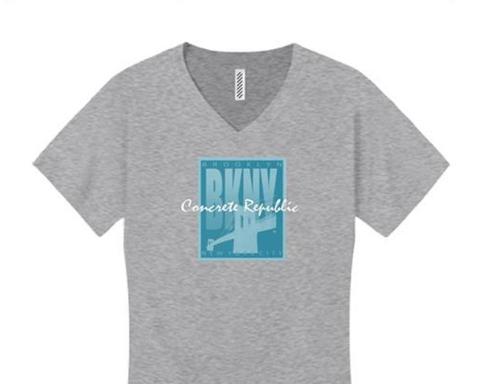 Women's v-neck 'Art Deco' style Brooklyn, New York (BKNY) graphic tees (size Sm-4X)