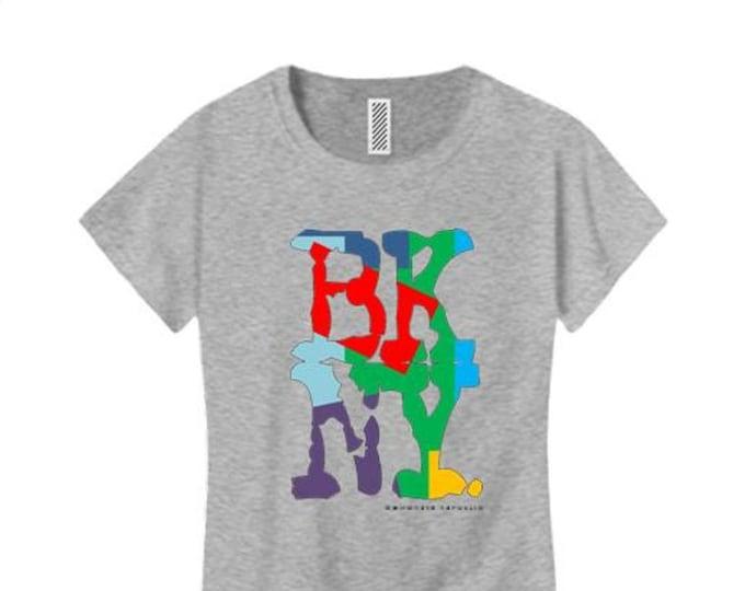 Women's Hip Hop/Graffiti fashion tees, 'Kolor' BKNY (Brooklyn, New York) graphic (size Sm-4X)