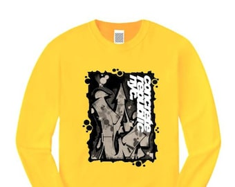 Mens long sleeve graffiti/hip hop tee, 'Nuclear Fusion II' graffiti graphic (sizes Sm-4XL)