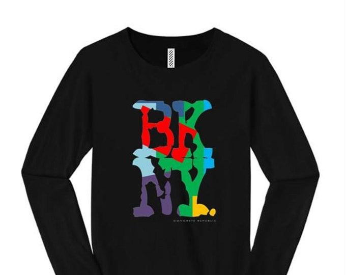 Women's long sleeve Hip Hop/Graffiti fashion t-shirts, 'Kolor' BKNY (Brooklyn, New York) graphic (size Sm-4X)