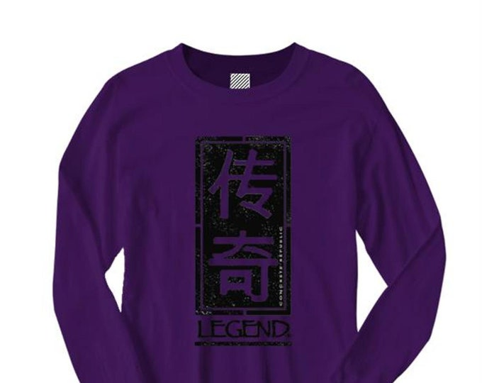 Legend, Mens Asian-Inspired urban graphic long sleeve t-shirt (sizes Sm-4XL)