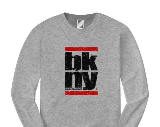 Brooklyn New York (BKNY) long sleeve classic hip hop style graphic Tee-Graffiti/Hip Hop style (sizes Sm-4XL)