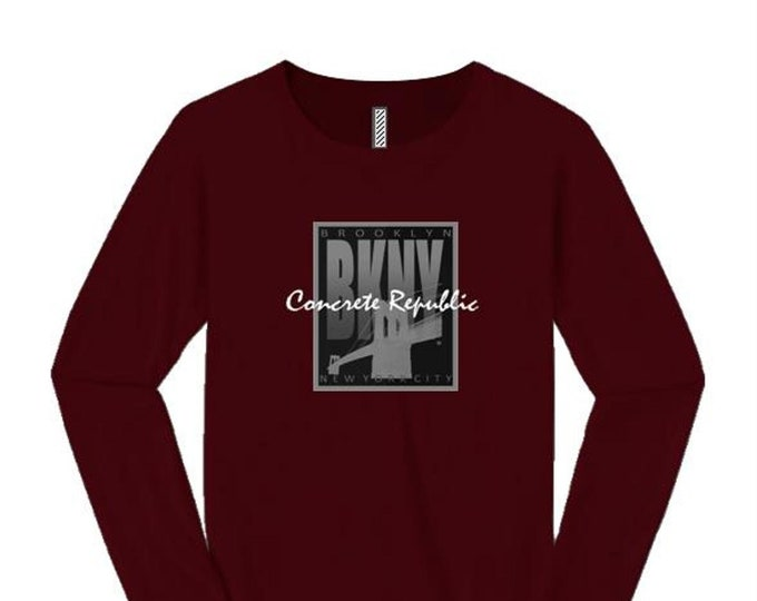 Women's 'Art Deco' style Brooklyn, New York (BKNY) graphic long sleeve tees (size Sm-4X)