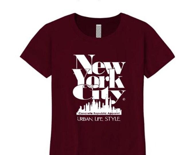 Women's New York City 'Grand Royal' graphic T-Shirt-Modern, stylish, sleek (sizes Sm-4X)