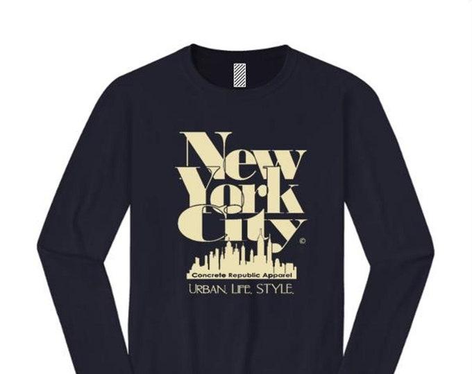Women's long sleeve New York City 'Grand Royal' graphic T-Shirt-Modern, stylish, sleek (sizes Sm-4X)