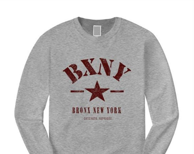Mens long sleeve 'Urban Soldier' BXNY (Bronx, New York) Vintage Military Style Tee-Urban, Trendy (sizes Sm-4XL)