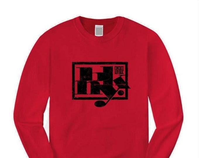 Mens urban fashion long sleeve tee, 'Kraftwerk' BKNY (Brooklyn, New York) futuristic graffiti style graphic (sizes Sm-4XL)