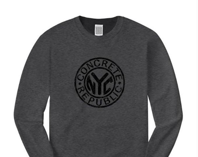 Mens long sleeve Graffiti Fashion Tee, old school/vintage 'NYC Subway Token' inspired graphic (sizes Sm-4XL)