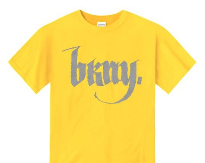 Mens urban fashion tee, 'Goth' BKNY (Brooklyn, New York) calligraphy style graphic (sizes Sm-4XL)