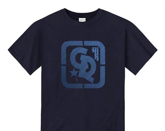 Mens streetwear/graffiti tee, 'Blu' Concrete Republic logo graphic (sizes Sm-4XL)