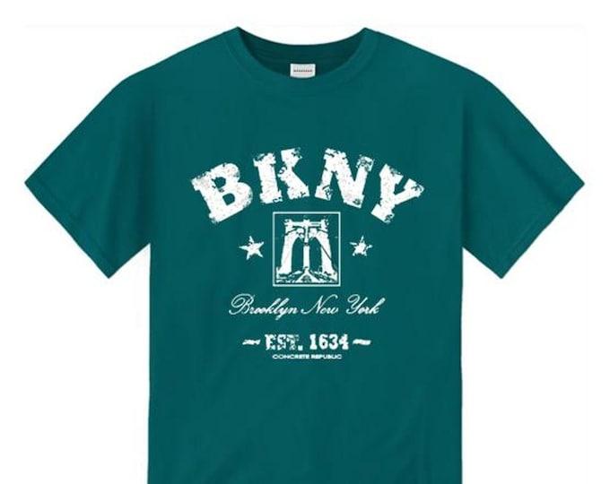 Mens Retro 'Da Bridge' BKNY (Brooklyn, New York) Vintage Style Graphic Tee-Urban, Trendy (sizes Sm-4XL)