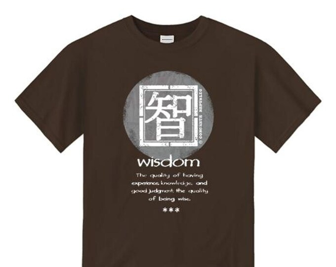 Wisdom, Mens Asian-Inspired urban graphic t-shirt (sizes Sm-4XL)