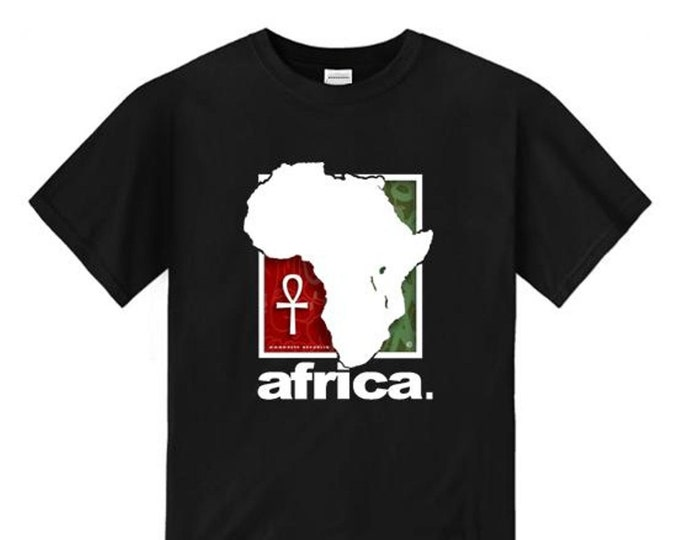 Mens Afrocentric fashion tees 'Africa Nouveau' modern, urban style graphic collection (sizes Sm-4XL)