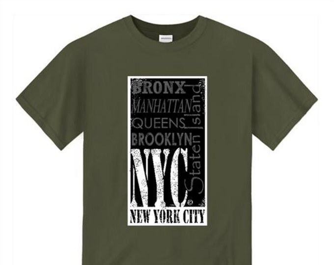 Mens Urban Fashion Tee 'The Block, NYC' (New York City) Graffiti/Hip Hop style graphic tshirts (sizes Sm-4XL)