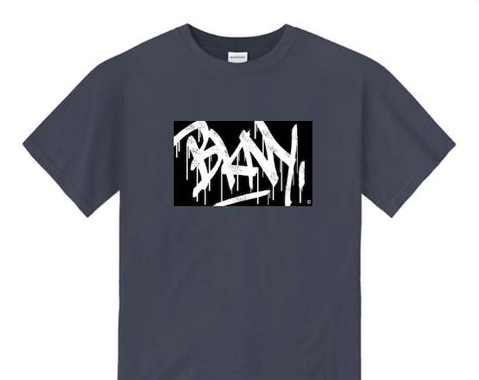Mens graffiti/hip hop tee, 'Tag Life' BKNY (Brooklyn, New York) graffiti tag graphic (sizes Sm-4XL)