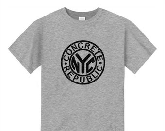 Mens Graffiti Fashion Tee, old school/vintage 'NYC Subway Token' inspired graphic (sizes Sm-4XL)