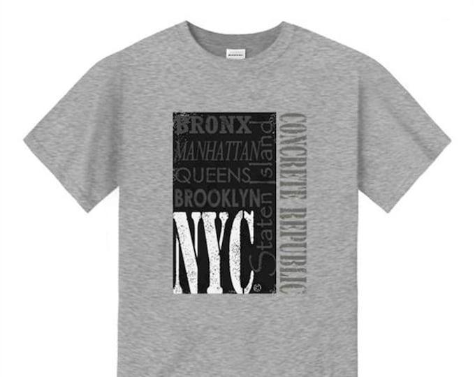 Mens New York Tee 'Fab Five NYC' graffiti style graphic tshirts (sizes Sm-4XL)