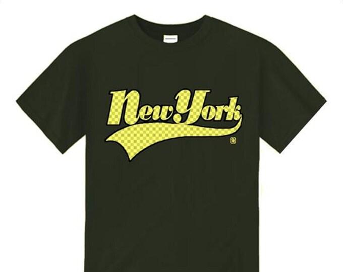 Mens 'New York' Varsity Style Graffiti Fashion Tee (sizes Sm-4XL)