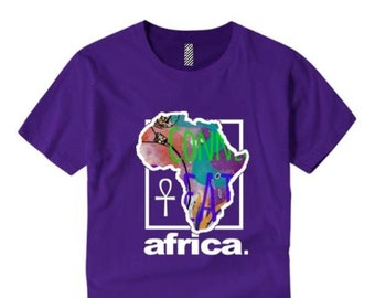 Womens Afrocentric fashion tees 'Africa Nouveau' modern, urban style graphic collection (sizes Sm-4XL)