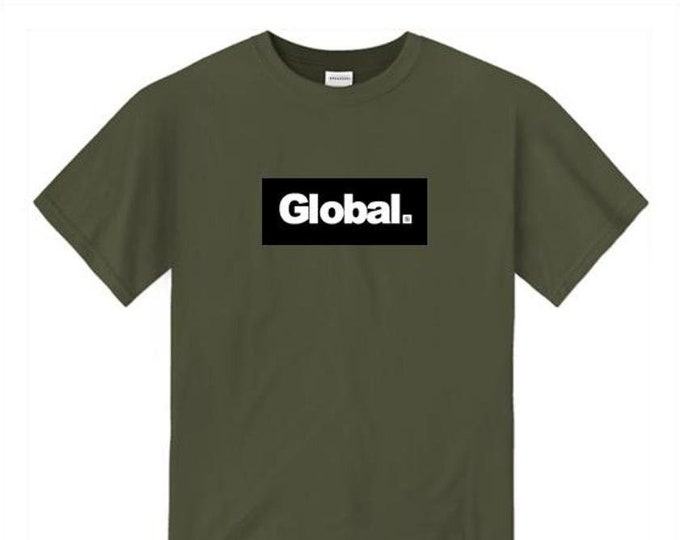 Mens urban fashion, 'Global' modern/urban style graphic tees (size Sm-4XL)